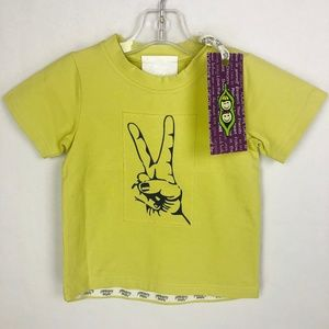Peekaboo Beans Peace Tee Top Shirt